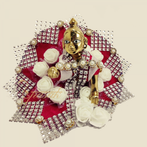 Laddu Gopal Dress Images Magnificent Studded White Rose ULGDSWR1