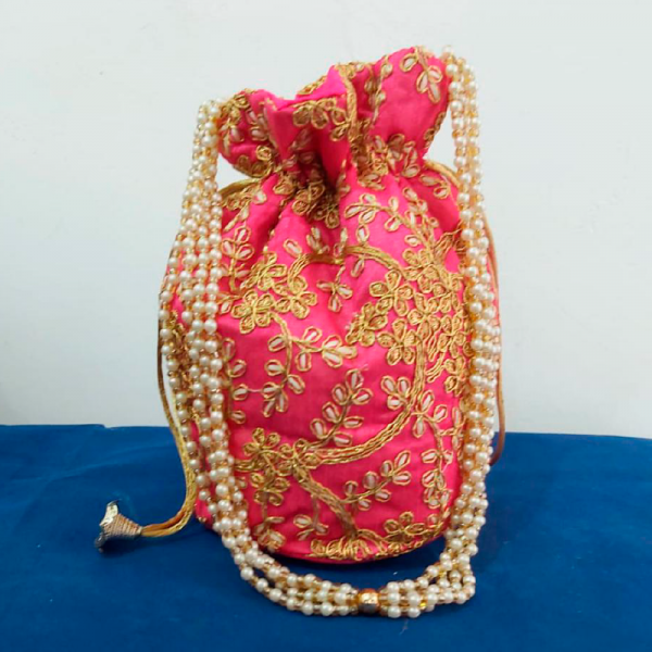 Embroidery Work Potli Bag
