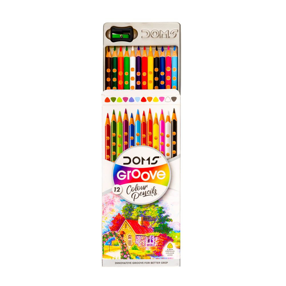 Groove Colour Pencil 12 Shades for Kanjak Gifts
