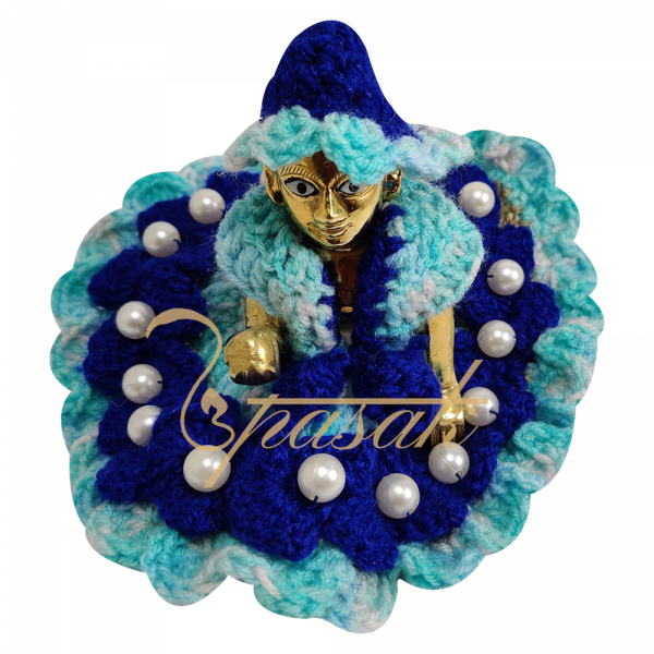 Laddu Gopal Blue with Light Blue Shade Woolen Dress