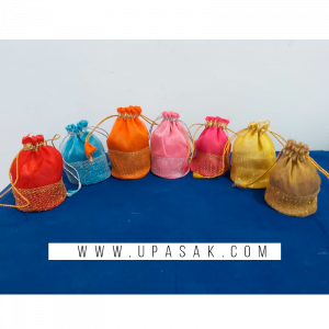 Fancy Net Work Potli Bag