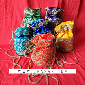 Full Embroidery Work Potli Bag