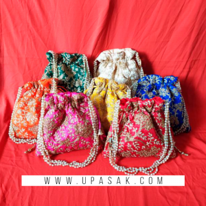 Heavy Embroidery Work Potli Bag