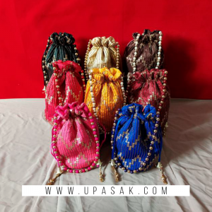 Heavy Stone Work Potli Bag