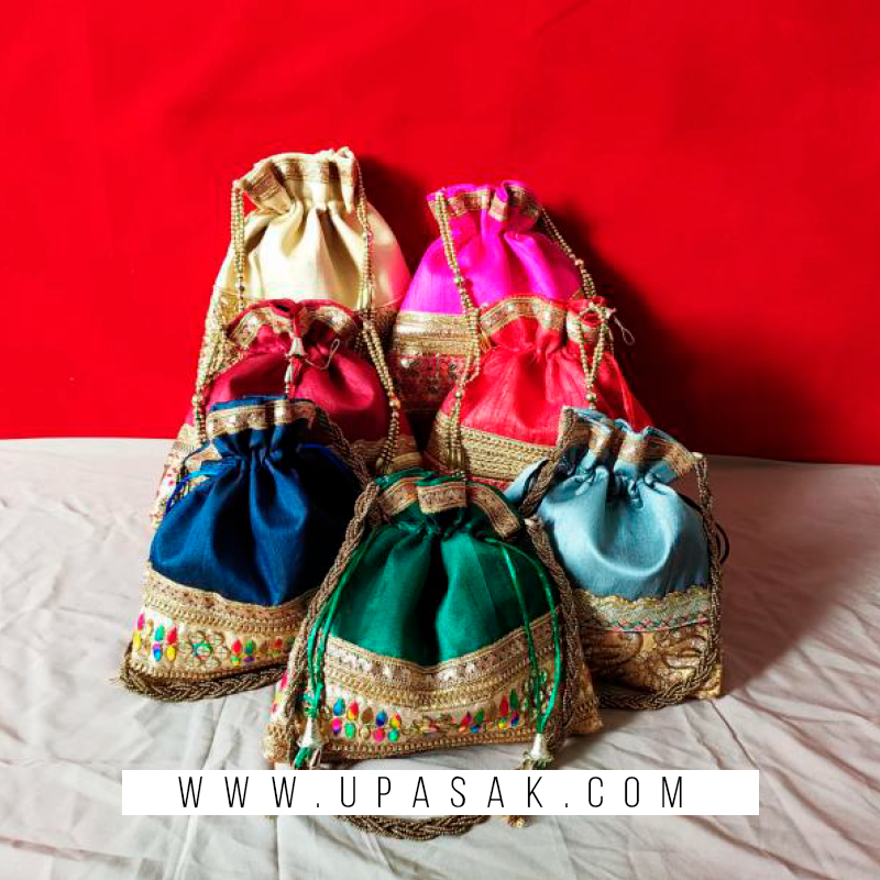 Lace Work Potli Bag