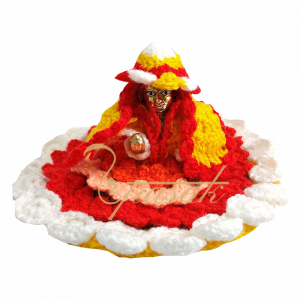 Laddu Gopal Multicolour Woolen Dress