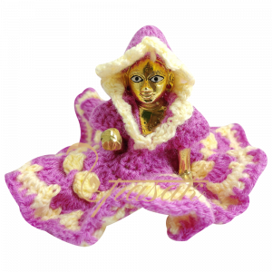 Laddu Gopal Pink Cream Vardhman Woolen Dress