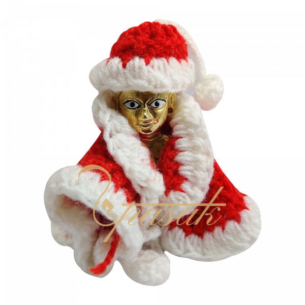 Laddu Gopal Santa Claus Woolen Dress
