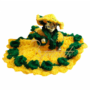 Laddu Gopal Yellow Green Colour Woolen Dress