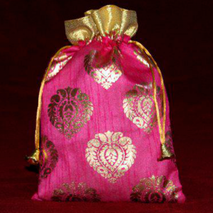 Leaf Print Potli Bag