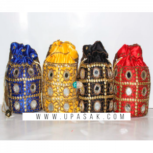 Mirror Stone Potli Bag