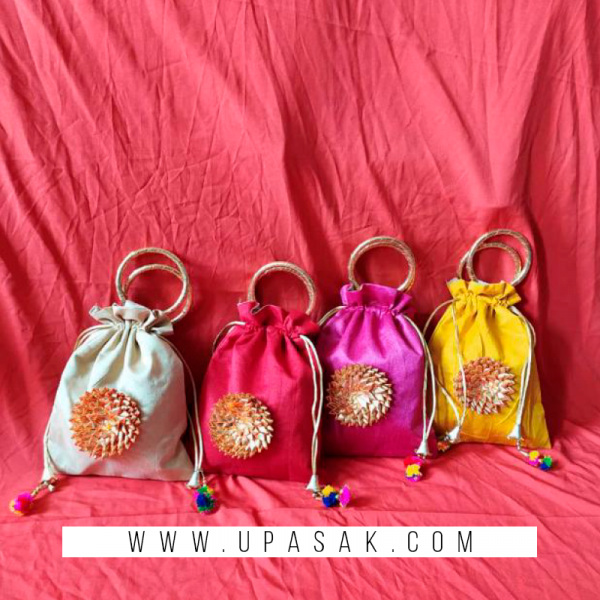 Ribbon Potli Bag