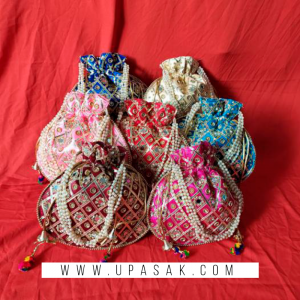 Stone Work Potli Bag